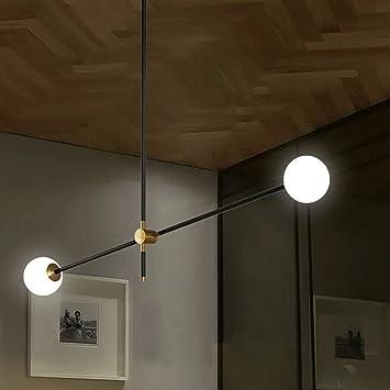 YXTK Lampara Sputnik Negra,Decoración Industrial Las Luces del Techo Metálico Vaso Sombra Focos para El Bombilla Convencional Pasillo Escaleras Casa Restaurantes Club, 2 Heads: Amazon.es: Deportes y aire libre