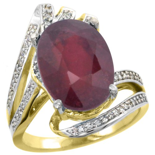 Diamond Accent Bypass Ring - 3