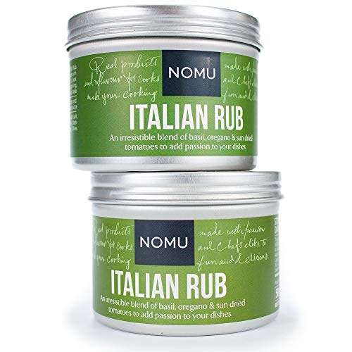 NOMU Italian Seasoning Rub (3.52 oz | 2-pack) | MSG & Gluten Free, Non-GMO, Non-Irradiated