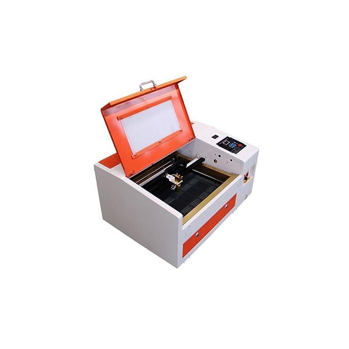 TEN-HIGH CO2 50W 110V/220V Superficie de grabado 300x400mm Láser Máquina de Grabado, Cortador, engraving cutting machine, Máquina DIY: Amazon.es: Bricolaje ...