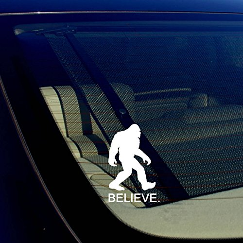 BELIEVE Bigfoot Yeti Sasquatch Vinyl Decal Sticker 5