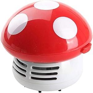 VeliHome Desktop Small Vacuum Cleaner, Small Premium Vacuum Cleaner Desktop Cartoon Mushroom Mini Keyboard Dust Collector for Home Office