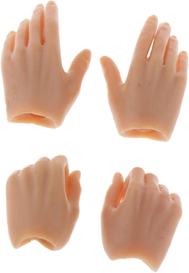 Puppenh/ände f/ür den 12-Zoll-Action-Figur-K/örper Baoblaze 10 Paar 1;6 Weibliche Soldatin Figur Hand Modell