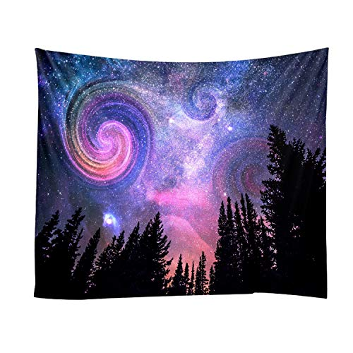 Xch Constellation Galaxy Space Pattern Wall Tapestry Tapestries Wall Hanging Tapestries Star Tapestry Home Decorations for Living Room,S