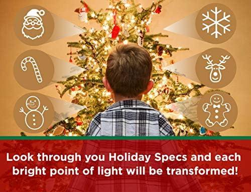 American Paper Optics ホリデー仕様 3Dメガネ - 眼鏡を覗いて見 スマイリーフェイス、雪だるま、雪の結晶、サンタ、ジンジャーブレッドメンズ、キャンディケーン、トナカイが目の前に現れます。 25408 20294x2