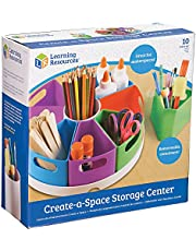 "Learning Resources LER3806 Create-a-Space Storage Center, Homeschool Accessories, Fits 3oz Hand Sanitizer Bottles, Bright Colors, Classroom Craft Keeper, 10 Piece set 4.6"" x 12"" x 12"""
