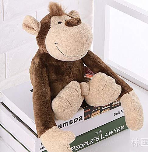 WATOP Stuffed Animals - Teddy Bears | Candice guo NICI Plush Toy Stuffed Doll Jungle Forest Animal Lion Tiger Monkey Giraffe Birthday 1pc (Monkey-About 35cm)