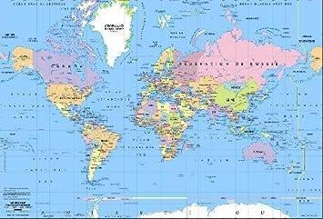 Carte Du Monde Avec Capitales | popkensburg