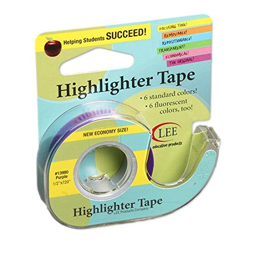 Removable Highlighter Tape Purple by Lee Products Company (Image #1)