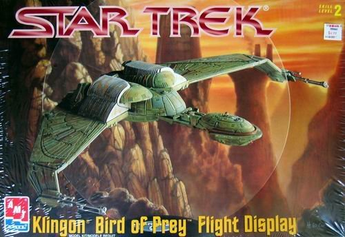 Flight Model Kit - #6339 AMT Star Trek Klingon Bird of Prey Flight Display Model Kit,Needs Assembly