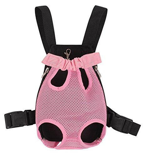 Cheap Greenery Fresh Breathable Mesh Durable Polyester Button Closure Pet Puppy Dog Cat Small Animals Outdoor Travel Carrier Backpack Front Chest Bag Shoulder Handbag Pet Holder