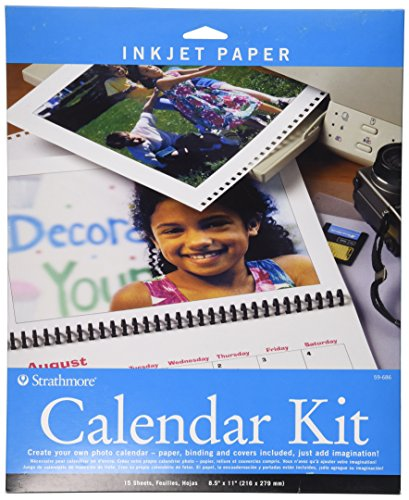 (Strathmore 59-686 Inkjet Photo Calendar Kit, 8.5