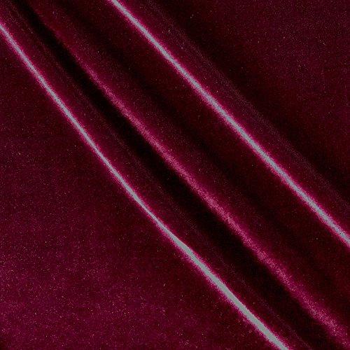 Ben Textiles Stretch Velvet Fabric by the Yard, Burgundy