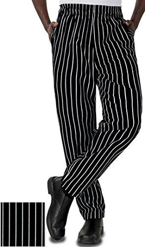 Baggy Chalk Stripe Chef Pants with Fly (3XL)
