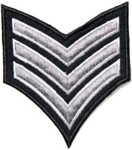 Sergeant US Army Military Pilot Chevron Logo Tab Jacket Uniform Patch Sew Iron on Embroidered Sign Badge ()