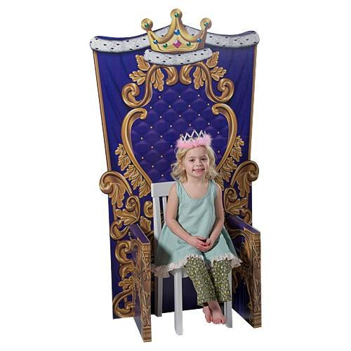 (Child Size Princess Prince Queen King Medieval Kingdom Throne Background Backdrop Party Decoration Photo Booth Prop )