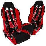 2X JDM Bride Sport Racing Seats+4 Point Racing Harness Camlock Seat Belt Belts