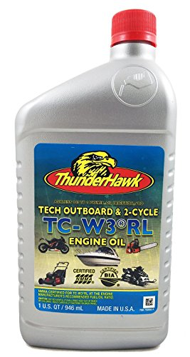 ThunderHawk Tech Outboard and 2 Cycle Oil TC-W30-RL 1 Quart Bottle (Case of (High Strength 1 Qt Bottles)