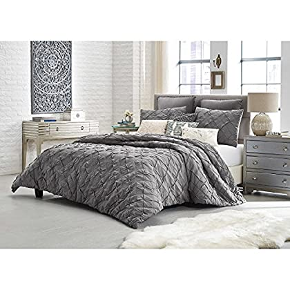 Image of Anthology MINA 2 Piece Comforter Set Charcoal Grey TWIN Home and Kitchen