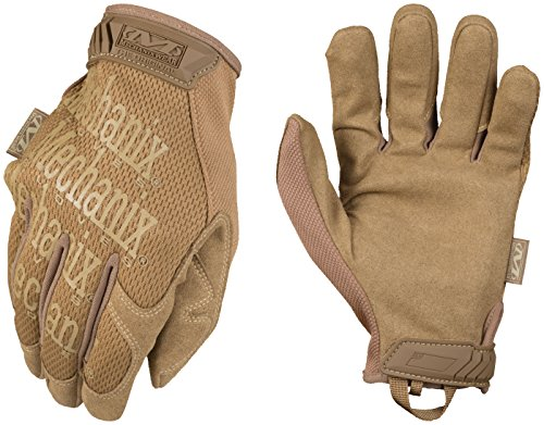 Plastic Mens Glove (Mechanix Wear - Original Coyote Tactical Gloves (Medium, Brown))