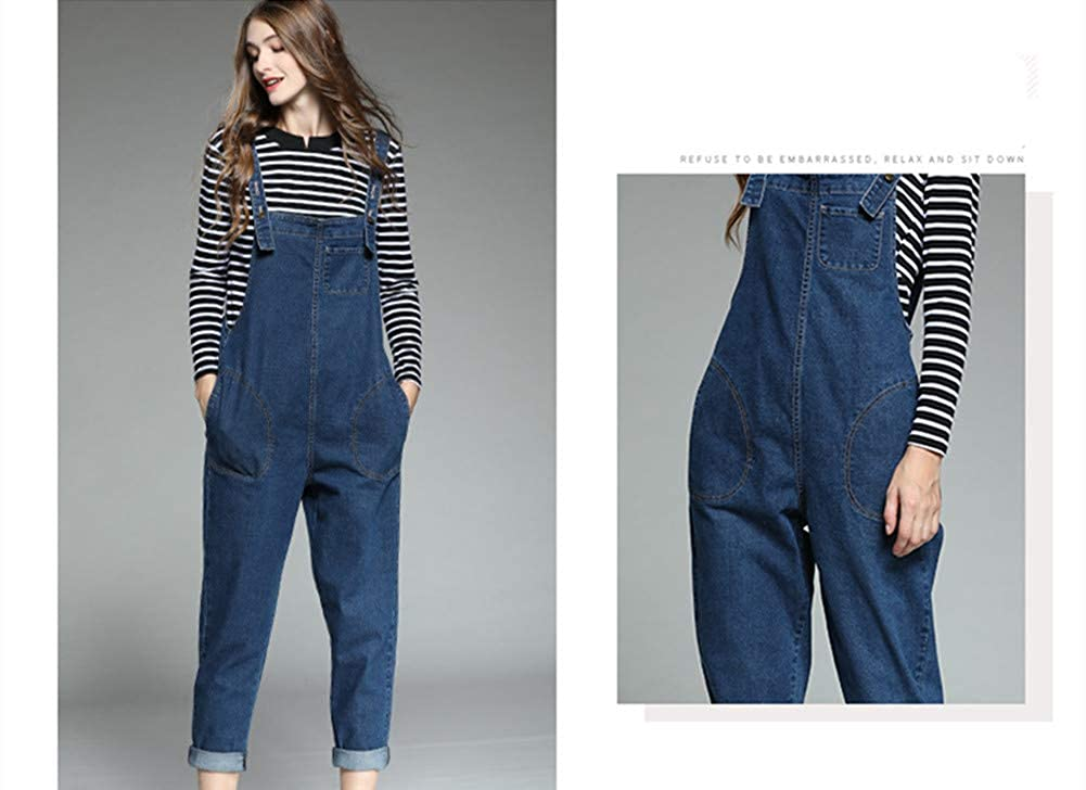 Cresay Womens Classic Baggy Jumpsuit Overalls