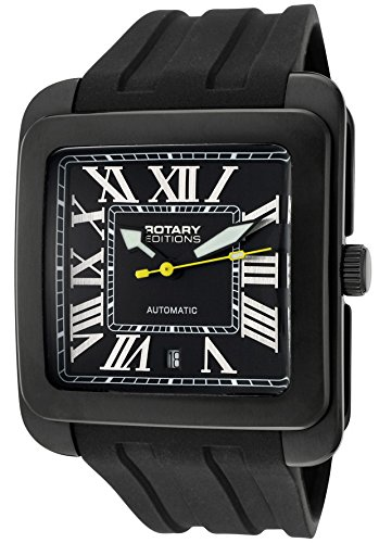 Men's Editions Automatic Black Dial Black IP Case Black Rubber Men's Editions Automatic Black Dial ()