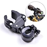 Yosoo All-directional Rotary Cycling Bike Bicycle Flash Light Flashlight Mount Holder Flashlight Mount Holder Clip Used in Outdoor Camping, Fishing, Power Failure (Pack of 1)