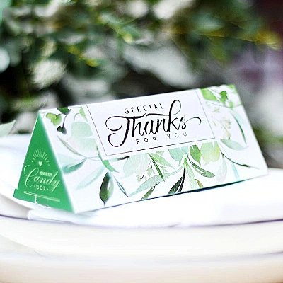 Clear Green Wedding Party Supplies Birthday Party Supplies Christmas Gift Boxes 20 Pieces (Candies or chocolates not included) by AUTULET (Image #1)