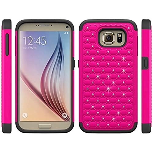 Samsung Galaxy S7 Case Cover, 2 in 1 TPU + PC with Shiny Rhinestone Crystal Bling Slim shock absorber Cell Phone Sales
