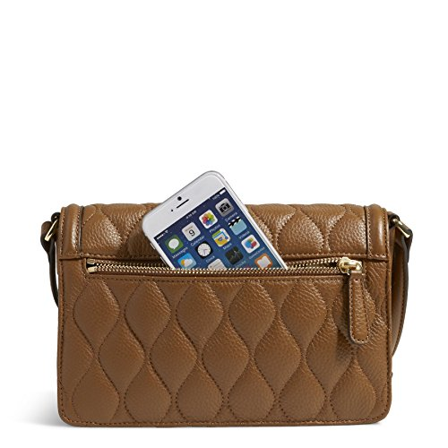 Vera Bradley Leather Quilted Tess Cognac Crossbody qT6rqZ