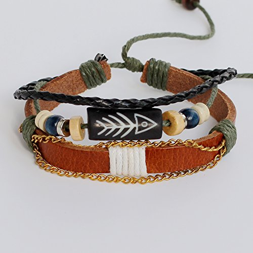 - Men's leather bracelet Women's leather bracelet Fish bone bracelet Charm bracelet Beads bracelet Chains bracelet Ropes bracelet Braided leather bracelet Woven leather bracelet Fashion bracelet