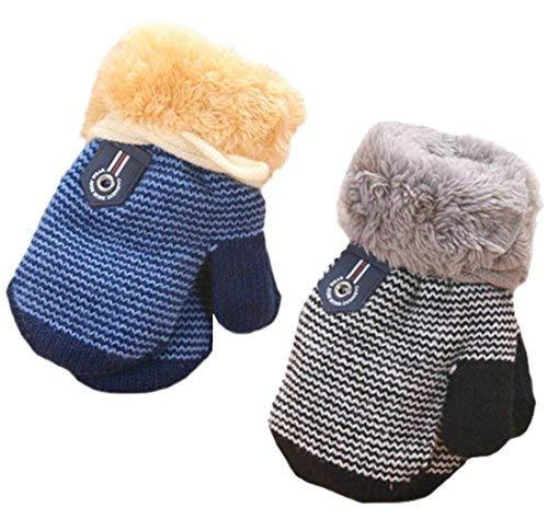 MarJunSep 2-Pack Winter Warm Baby Gloves Full Fingers Infant Girls Boys Thicken...