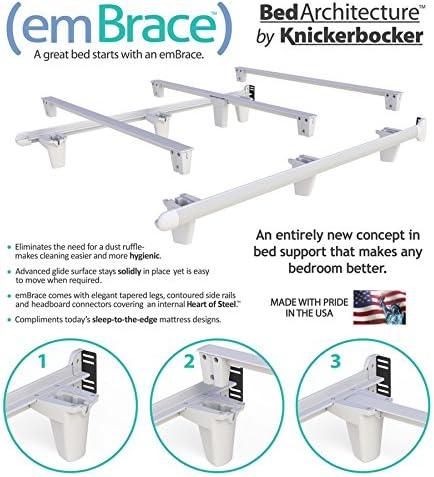 Knickerbocker Embrace Bed Frame – Twin – Black