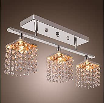 Modern crystal chandeliers with 3 lights ceiling for Contemporary chandeliers amazon