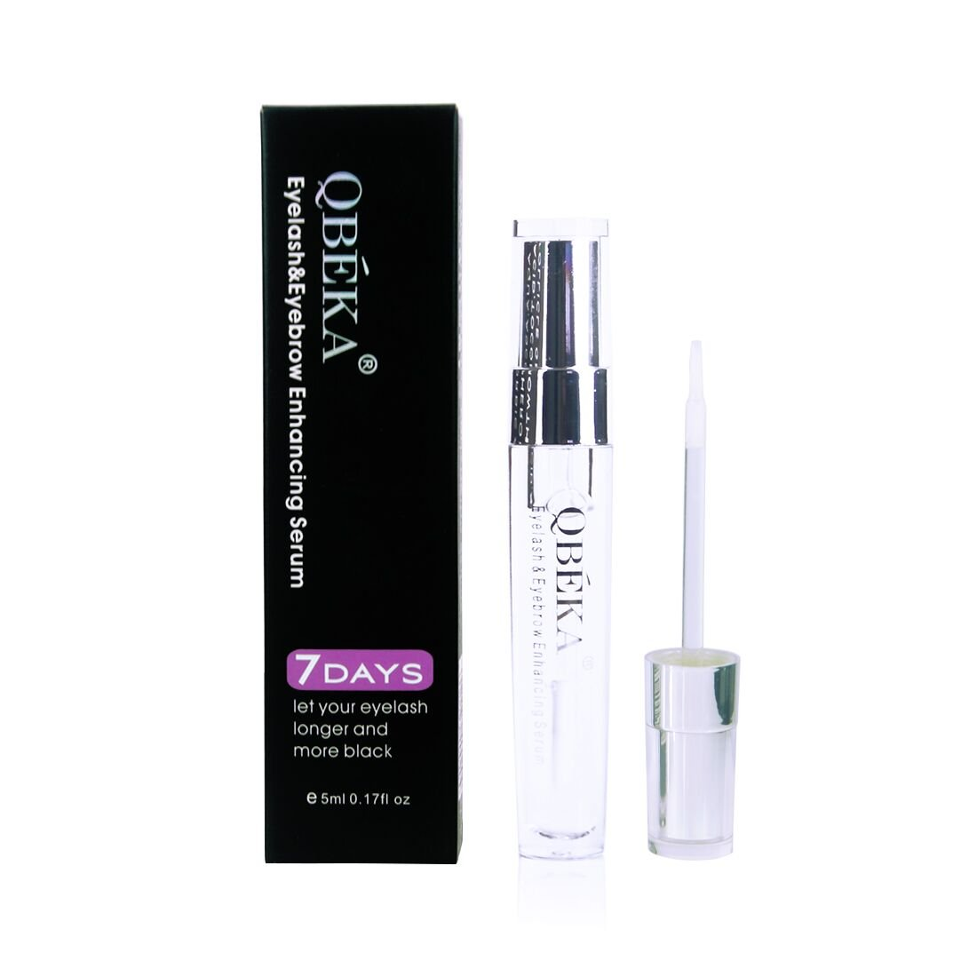 QBEKA Eyelash & Eyebrow Growth Serum - No Side Effect for Longer Fuller Thicker Lashes & Brows Conditioner Natural Enhancer Treament 5ml 0.17 fl oz
