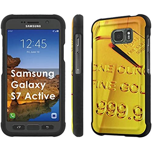 AT&T [Galaxy S7 Active] [5.1 Screen] Armor Case [NakedShield] [Black] Total Armor Protection [Shell Snap] + [Screen Protector] Phone Case - [Gold] for Samsung Sales