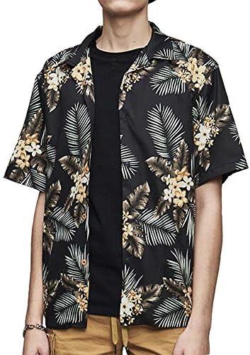 アロハシャツ メンズ ハワイアンシャツ カジュアルシャツ パナマシャツ 半袖 シャツ トロピカル 夏服トップス ボタンダウン プリント 総柄 花柄 ボタニカル柄 爽やか 海 ビーチ 7カラー