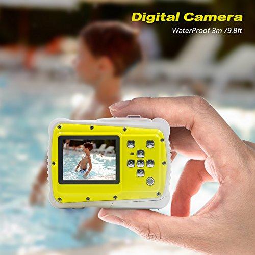 Underwater Camera Kids Digital Camera IP68 Waterproof Shatterproof Dustproof 5MP for Kids Outdoor use, Yellow,Sport Action Camera
