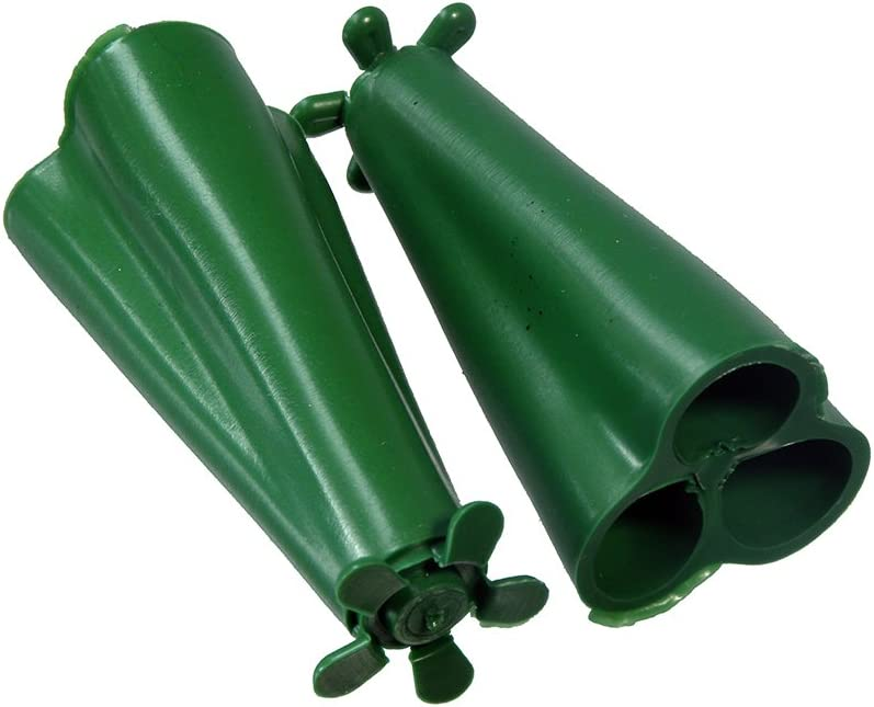 100 x Wigwam Grip Holders Holds 3 Garden Canes Safety Protector Plastic