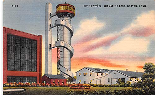Submarines Post Card Old Vintage Antique Postcard Diving Tower, Submarine Base, Groton, CT Unused ()
