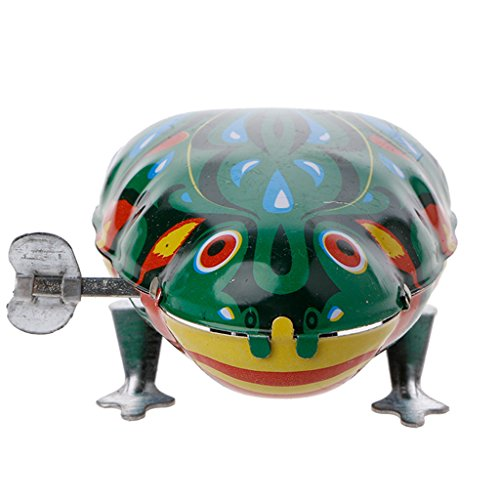 CHONE Metal Wind-up Jumping Frog Clockwork Tin Toys Children Funny Game Tin Frog