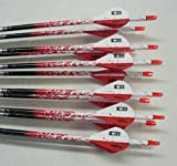 Carbon Express Maxima Red 350 Carbon Arrows w/Blazer Vanes Spray Wraps 1 Dz.