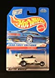 HOT SEAT * WHITE * 1998 FIRST EDITIONS SERIES #13 of 40 HOT WHEELS Basic Car 1:64 Scale Series * Collector #648 *
