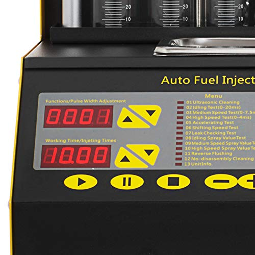 BestEquipCT200 Ultrasonic Fuel Injector Cleaner&Tester Automotive Fuel Cleaning Tools for Car Motor 4-Cylinder by BestEquip (Image #5)