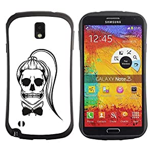 Be-Star Colorful Printed Design Anti-Shock Iface First Class Tpu Case Bumper Cover For SAMSUNG Galaxy Note 3 III / N9000 / N9005 N9000 N9002 N9005 ( white black bowtie skull funny ponytail ) Kimberly Kurzendoerfer