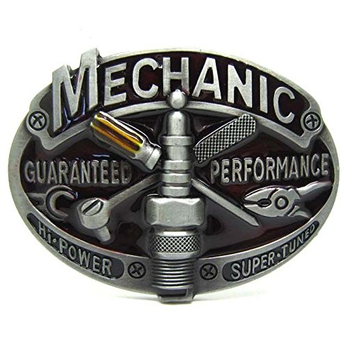 Mechanic Guaranteed Performa Vintage Fire Fighter Department Mechanic Men Belt Buckle Lot Metal Occupational (Performa Bowl)