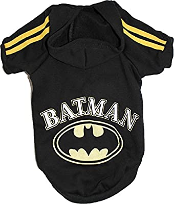 For SMALL Dog Coat Hoodie Sweatshirt Pullover BATMAN Jumper Apparel Clothes by FunnyDogClothes