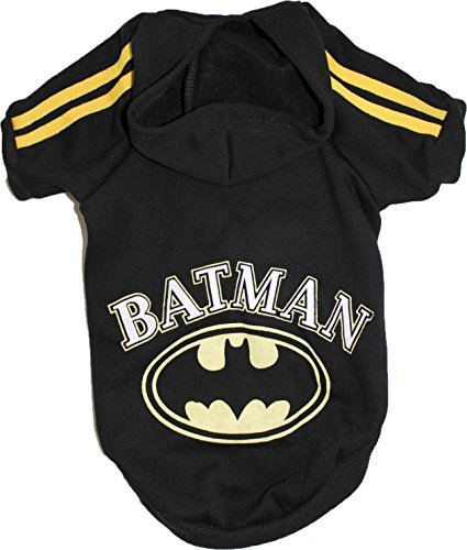 Dog Puppy Cat Coat Sweater Hoodie BATMAN For SMALL Breeds XXS- L (M: Length 13
