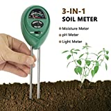 Cheap Besiva Soil pH Meter 3 in 1 Soil Test Kit for Light pH Moisture Plant Tester for Home and Garden Lawn Farm Indoor Outdoor No Battery Needed (Green)