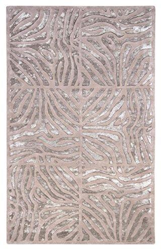 CC Home Furnishings 5' x 8' Burchelli Zebra Chain Taupe Wool Area Throw Rug